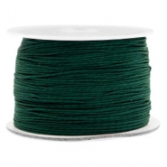 Macramé bead cord 0.5mm Dark Leaf Green