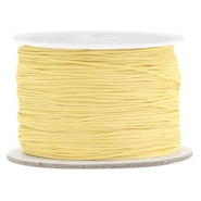 Macramé bead cord 0.5mm Old Linen Yellow