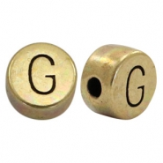 DQ European metal letter beads G Antique Bronze (nickel free)