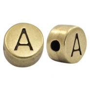 DQ European metal letter beads A Antique Bronze (nickel free)