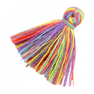 Tassels basic 2cm Multicolour Rainbow Purple