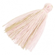 Tassels basic goldline 3cm Light Pink