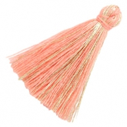 Tassels basic goldline 3cm Peach