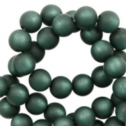 Super Polaris beads round 6 mm matt Deep Lake Teal Blue
