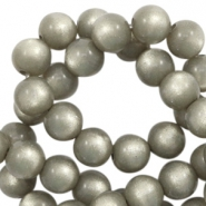 Super Polaris beads round 6 mm Warm Grey