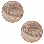 12 mm flat Polaris Elements cabochon Stardust Taupe Brown