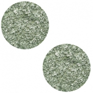 12 mm flat Polaris Elements cabochon Goldstein Chinois Green Grey