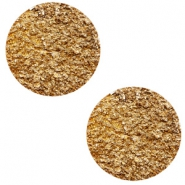 20 mm flat Polaris Elements cabochon Goldstein Camel Brown