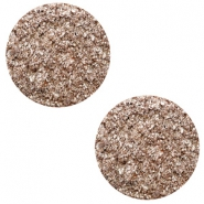 20 mm flat Polaris Elements cabochon Goldstein Taupe Brown