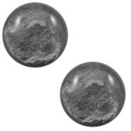 7 mm classic Polaris Elements cabochon Lively Dark Grey
