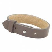 Cuoio bracelets leather 15 mm for 20mm cabochon Deep Greige Brown
