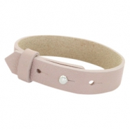 Cuoio bracelets leather 15 mm for 20mm cabochon Rose Taupe