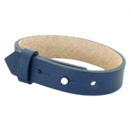 Cuoio bracelets leather 15 mm for 20mm cabochon Navy Blue