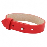 Cuoio bracelets leather 15 mm for 20mm cabochon Clear Bright Red