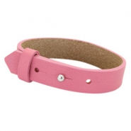 Cuoio bracelets leather 15 mm for 20mm cabochon Peonia Pink