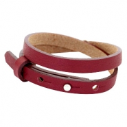 Cuoio bracelets leather 8mm double for 12mm cabochon Tawny Port Red