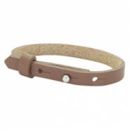 Cuoio bracelets leather 8mm for 12mm cabochon Medium Brown