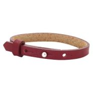 Cuoio bracelets leather 8mm for 12mm cabochon Tawny Port Red