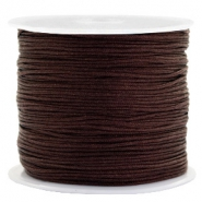 Macramé bead cord 0.8mm Burgundy Brown