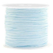Macramé bead cord 0.8mm Light Turquoise Blue