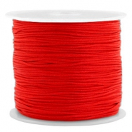 Macramé bead cord 0.8mm Candy Red