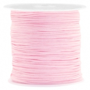 Macramé bead cord 0.8mm Bright Pink