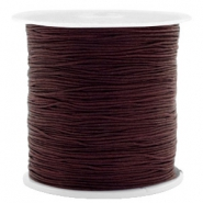 Macramé bead cord 0.5mm Chocolate Brown