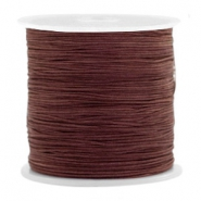 Macramé bead cord 0.5mm Tawny Brown