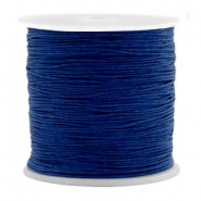 Macramé bead cord 0.5mm Denim Blue