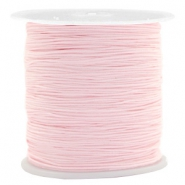Macramé bead cord 0.5mm Bright Pink