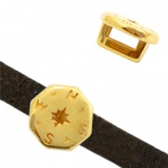 DQ European metal sliders compass Gold (nickel free)