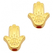 DQ European metal beads Hamsa hand Gold (nickel free)