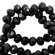 Top faceted beads 4x3mm disc Black