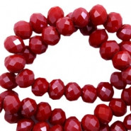 Top faceted beads 4x3mm disc Siam Red-Pearl Shine Coating (slightly darker)