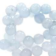 6 mm natural stone beads round Jade Fog Blue