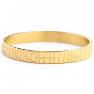 Stainless steel bracelets crocodile Gold
