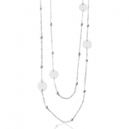 Stainless steel necklaces belcher chain round ball Silver