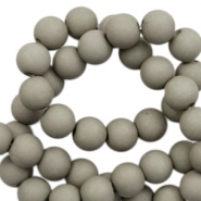 6 mm acrylic beads matt Rock Ridge Grey