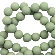 6 mm acrylic beads matt Cameo Green