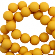 6 mm acrylic beads matt Scotch Yellow