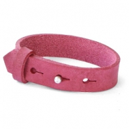 15mm leather Cuoio bracelets for 20mm cabochon Rubine Pink