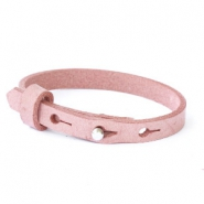 Cuoio bracelets leather 8mm for 12mm cabochon Soft Misty Rose