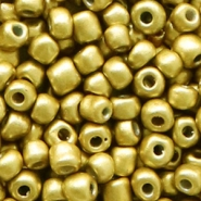 Glass seed beads 6/0 (4mm) Rich Gold Metallic