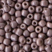 Glass seed beads 6/0 (4mm) Taupe Purple
