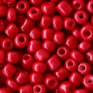 Glass seed beads 6/0 (4mm) Warm Red