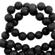 8 mm natural stone beads Black