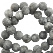 6 mm natural stone beads shine stone Anthracite