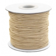 Coloured elastic cord 1mm Taupe Brown