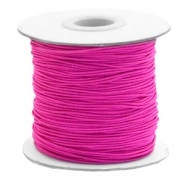 Coloured elastic cord 1mm Cherry Pink