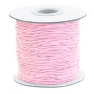 Coloured elastic cord 1mm Light Pink